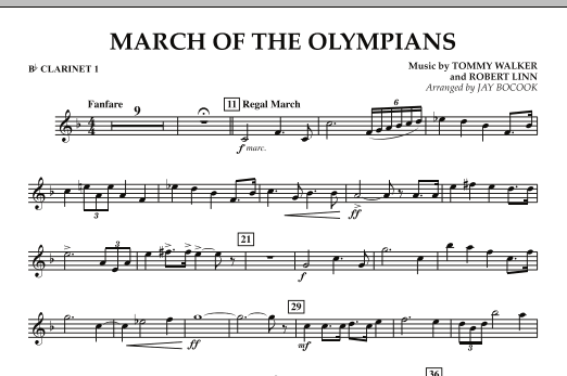 March Of The Olympians - Bb Clarinet 1 (Concert Band)