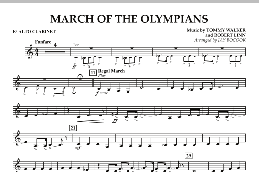 March Of The Olympians - Eb Alto Clarinet (Concert Band)