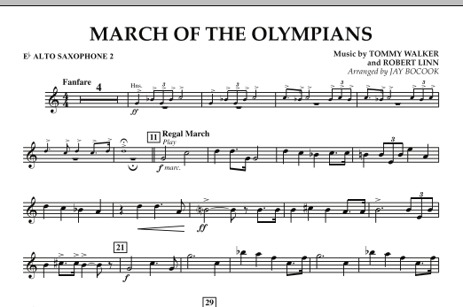 March Of The Olympians - Eb Alto Saxophone 2 (Concert Band)