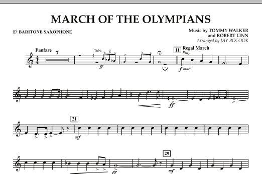 March Of The Olympians - Eb Baritone Saxophone (Concert Band)