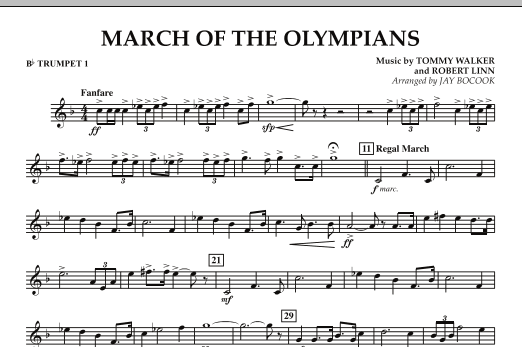 March Of The Olympians - Bb Trumpet 1 (Concert Band)