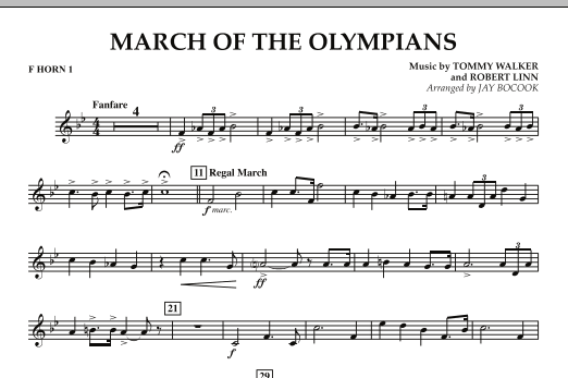March Of The Olympians - F Horn 1 (Concert Band)
