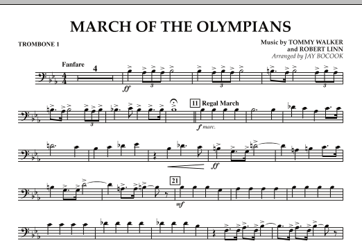 March Of The Olympians - Trombone 1 (Concert Band)