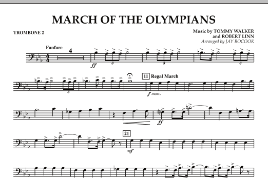 March Of The Olympians - Trombone 2 (Concert Band)