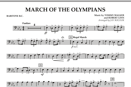 March Of The Olympians - Baritone B.C. (Concert Band)