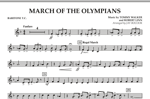 March Of The Olympians - Baritone T.C. (Concert Band)