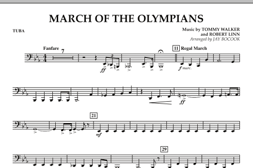 March Of The Olympians - Tuba (Concert Band)