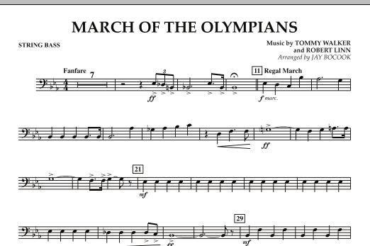 March Of The Olympians - String Bass (Concert Band)