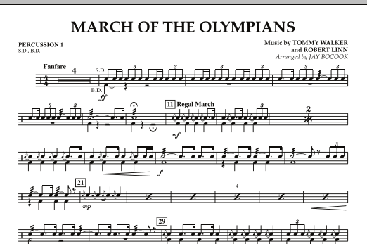 March Of The Olympians - Percussion 1 (Concert Band)