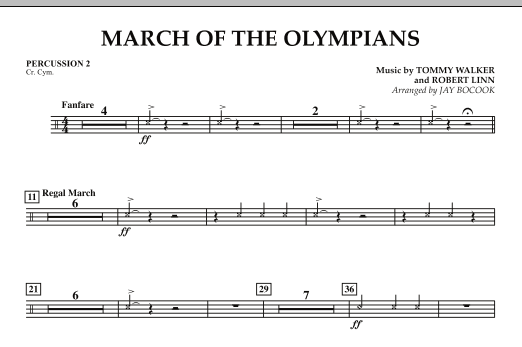March Of The Olympians - Percussion 2 (Concert Band)