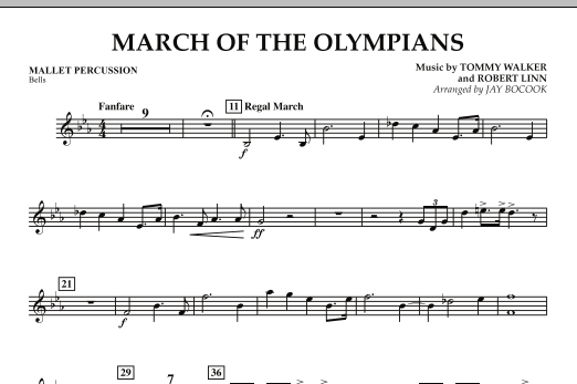 March Of The Olympians - Mallet Percussion (Concert Band)