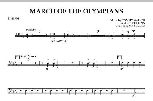 March Of The Olympians - Timpani (Concert Band)