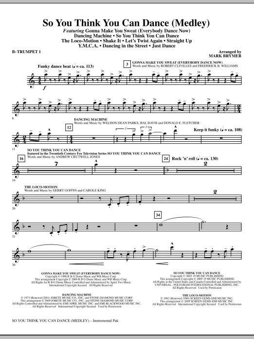 So You Think You Can Dance (Medley) - Bb Trumpet 1 (Choir Instrumental Pak)