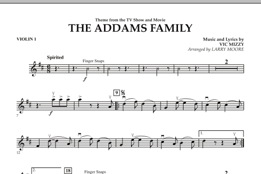The Addams Family - Violin 1 (Orchestra)