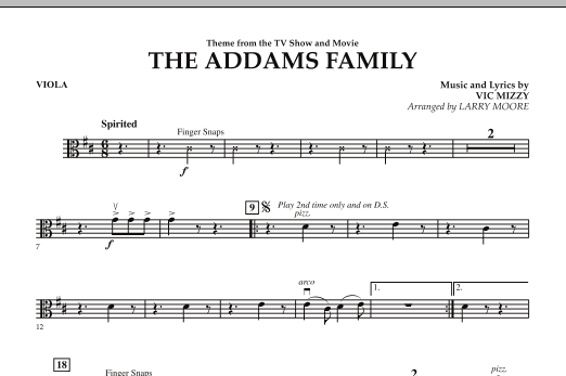 The Addams Family - Viola (Orchestra)