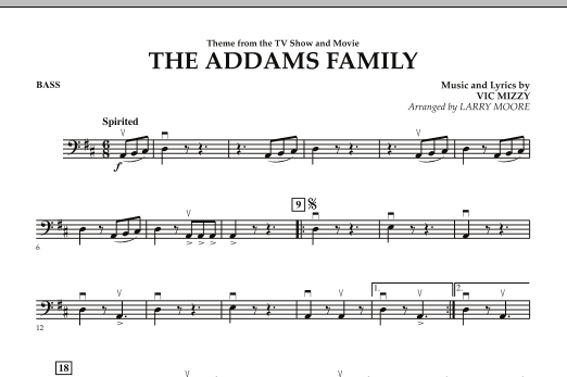 The Addams Family - Bass (Orchestra)