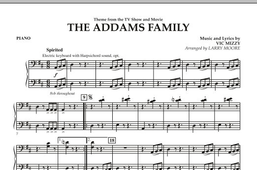 The Addams Family - Piano (Orchestra)
