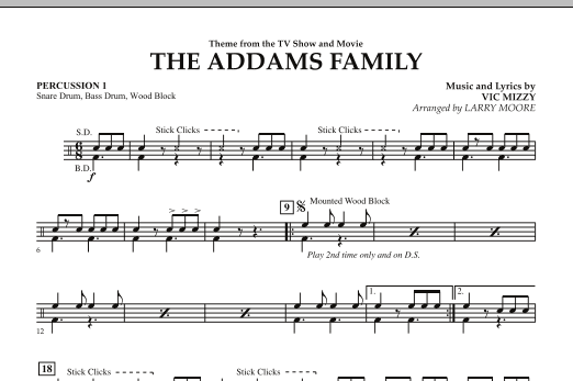 The Addams Family - Percussion 1 (Orchestra)