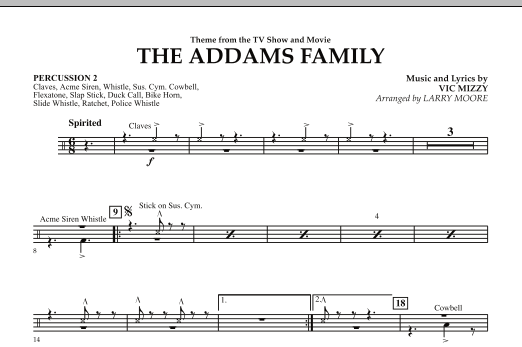 The Addams Family - Percussion 2 (Orchestra)
