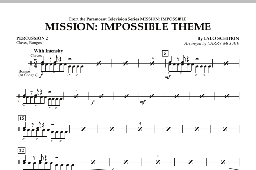Mission: Impossible Theme - Percussion 2 (Orchestra)