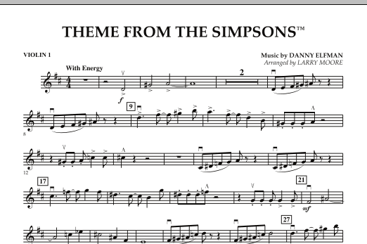 The Simpsons - Violin 1 (Orchestra)