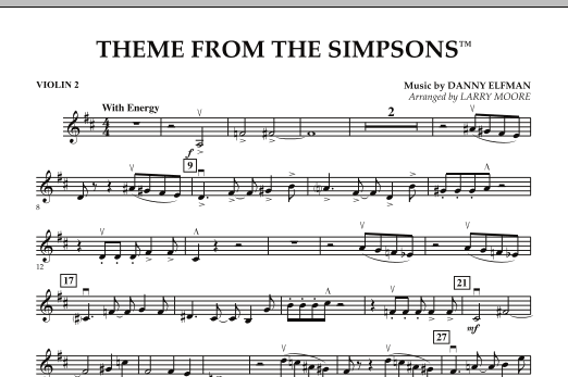 The Simpsons - Violin 2 (Orchestra)