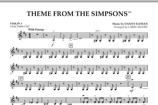 The Simpsons - Violin 3 (Viola Treble Clef) (Orchestra)