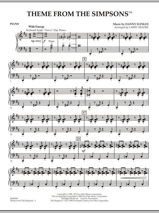 The Simpsons - Piano (Orchestra)