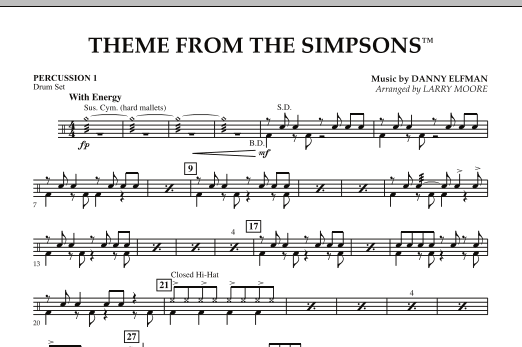 The Simpsons - Percussion 1 (Orchestra)