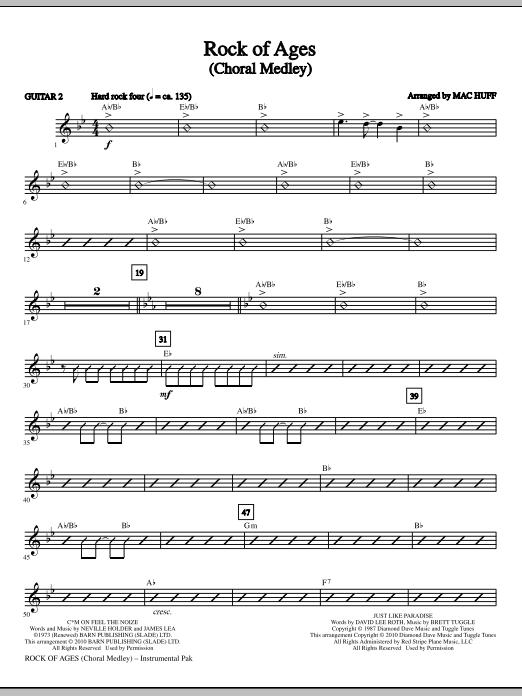 Rock Of Ages (Choral Medley) - Guitar 2 (Choir Instrumental Pak)