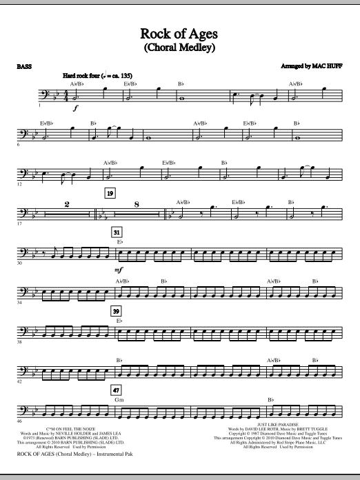 Rock Of Ages (Choral Medley) - Bass (Choir Instrumental Pak)