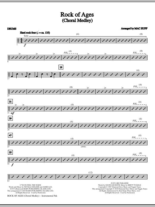 Rock Of Ages (Choral Medley) - Drums (Choir Instrumental Pak)