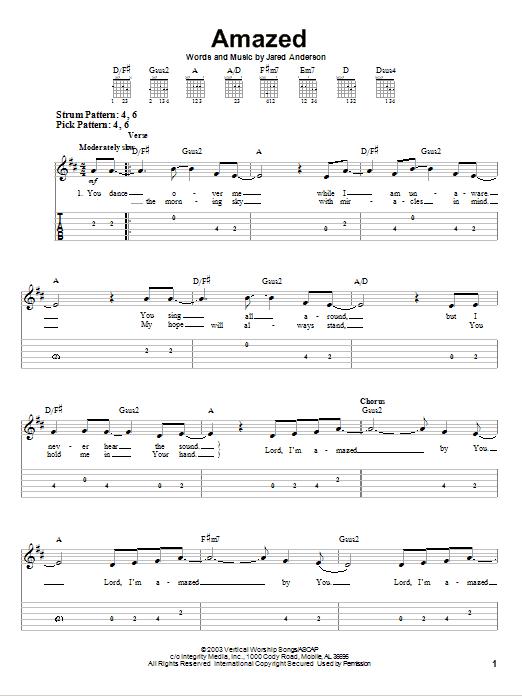 Amazed (Easy Guitar Tab)