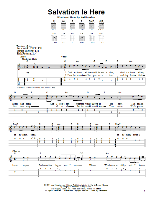 Salvation Is Here Sheet Music