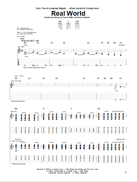 Real World Sheet Music