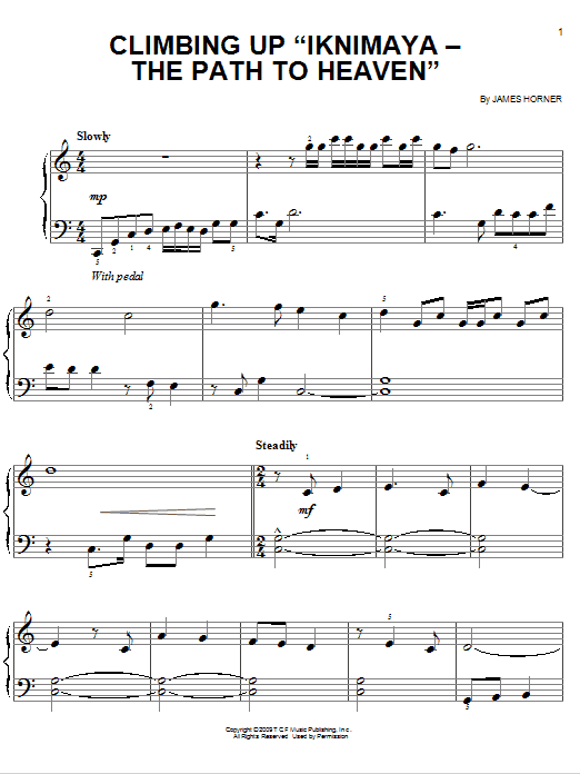 "Climbing Up ""Iknimaya - The Path To Heaven"" Sheet Music"