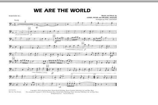 We Are The World - Baritone B.C. (Marching Band)