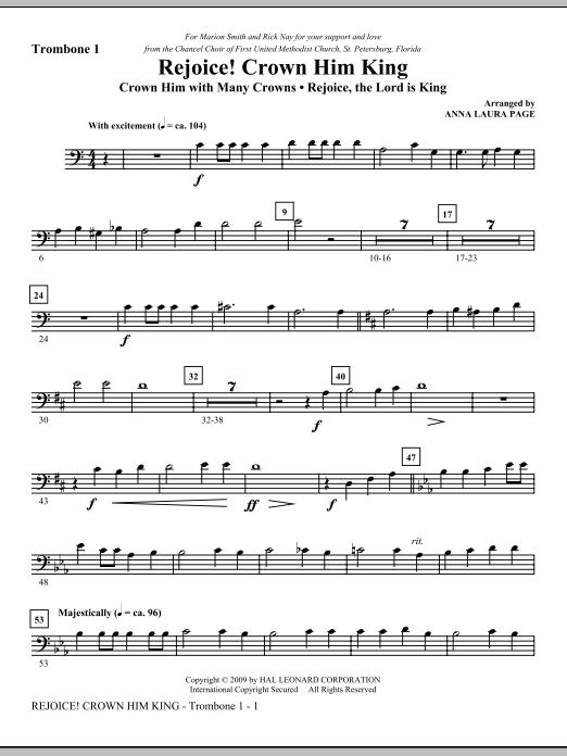 Rejoice! Crown Him King - Trombone 1 Sheet Music