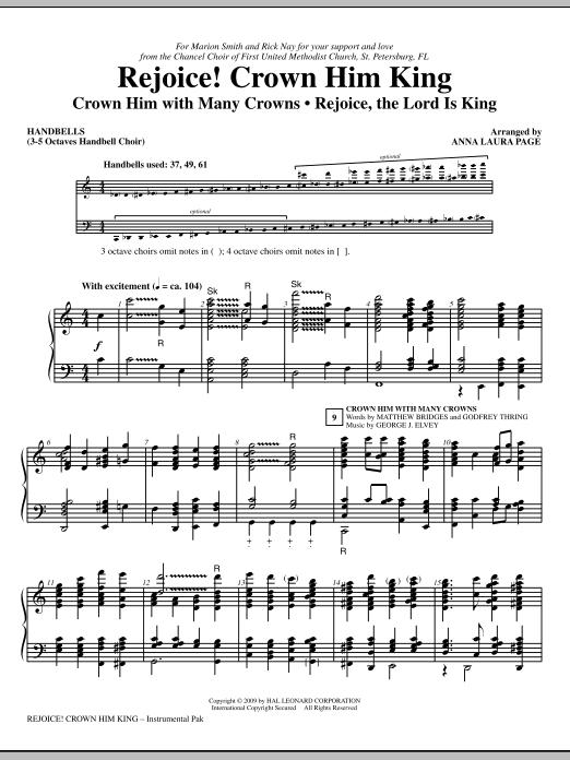 Rejoice! Crown Him King - Handbells Sheet Music