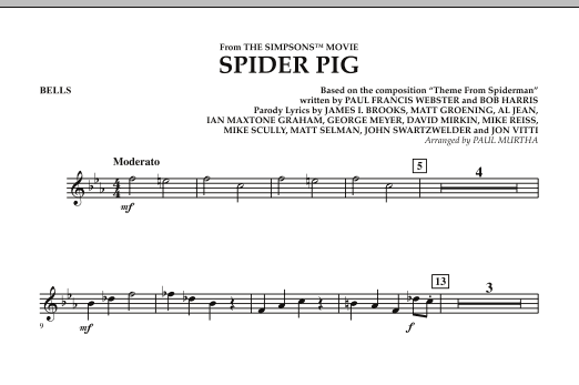Spider Pig (from The Simpsons Movie) - Bells (Concert Band)