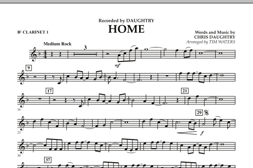 Home - Bb Clarinet 1 (Concert Band)