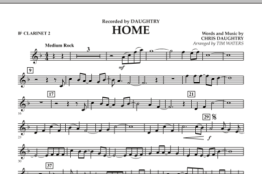 Home - Bb Clarinet 2 (Concert Band)