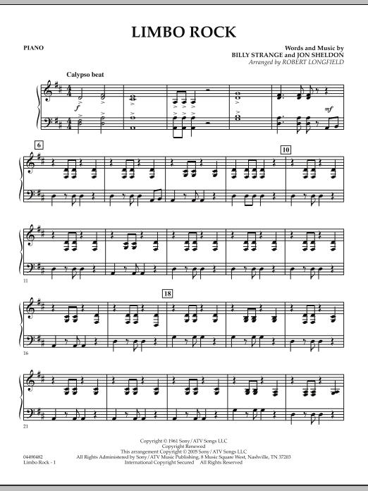 Limbo Rock - Piano (Orchestra)