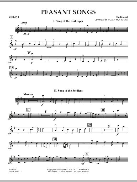 Peasant Songs - Violin 1 (Orchestra)