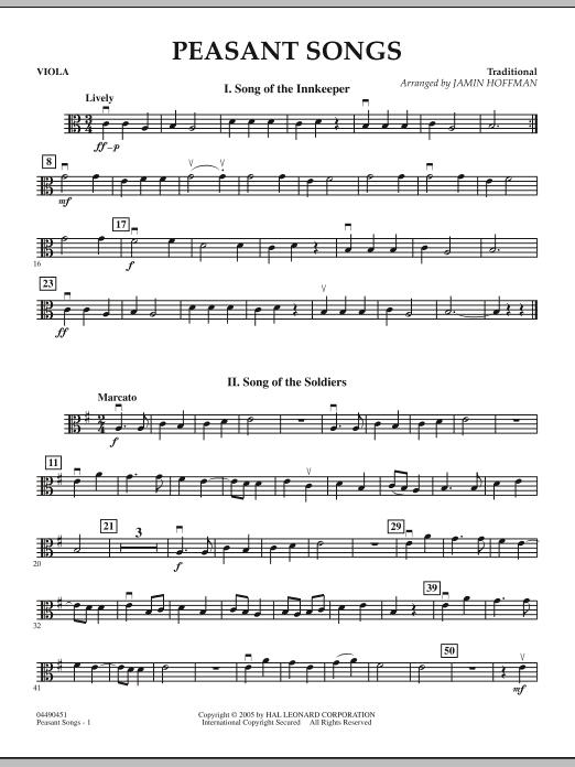 Peasant Songs - Viola (Orchestra)