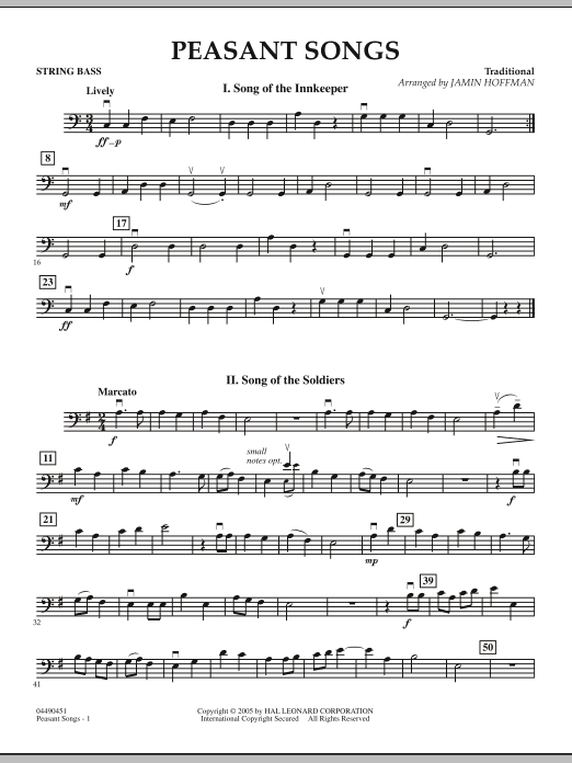 Peasant Songs - String Bass (Orchestra)