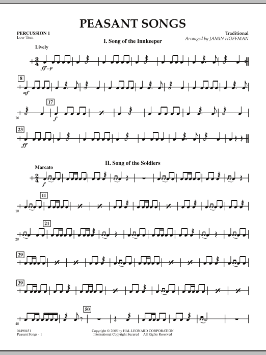 Peasant Songs - Percussion 1 (Orchestra)