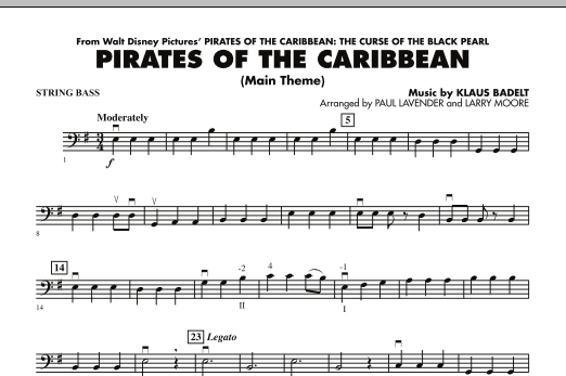 Pirates Of The Caribbean (Main Theme) - String Bass (Orchestra)