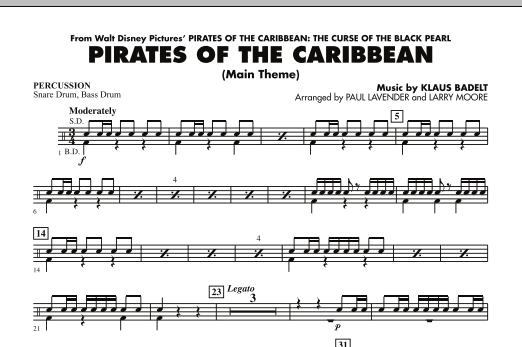 Pirates Of The Caribbean (Main Theme) - Percussion (Orchestra)