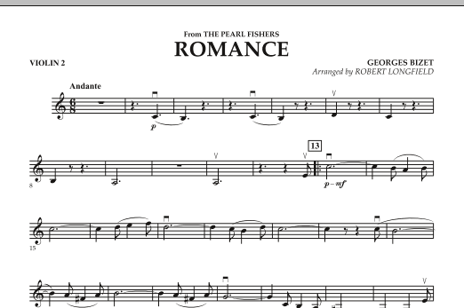 Romance (from The Pearl Fishers) - Violin 2 (Orchestra)